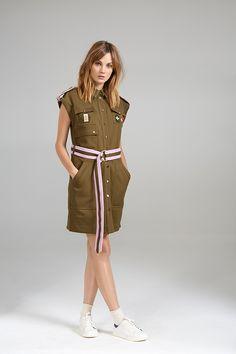 CONTRAST VEST DRESS Contrast, Women Wear, Vest, Shirt Dress, Contemporary, Shirts, Collection, Dresses, Fashion