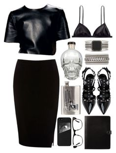 """""""The Classy Rocker"""" by selinmavi ❤ liked on Polyvore featuring CÉLINE, Oasis, H&M, Yves Saint Laurent, GlassesUSA, River Island and Mujjo"""