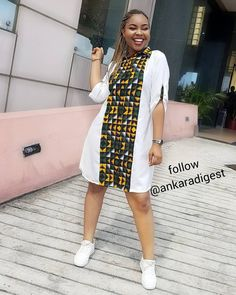 These classy Ankara styles will make you locate your tailor; if you want to turn heads at the next event you attend, then you need these Ankara styles to make a difference African Fashion Designers, African Fashion Ankara, Latest African Fashion Dresses, African Print Fashion, Africa Fashion, African Shirt Dress, African Wear Dresses, African Shirts, African Attire
