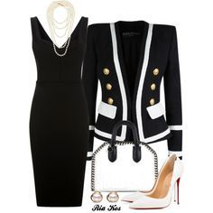 A fashion look from July 2017 featuring Victoria Beckham dresses, Balmain blazers and Christian Louboutin pumps. Browse and shop related looks.