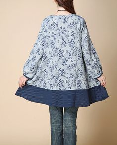 """【Fabric】 cotton, linen 【Color】 Photo Color 【Size】 Shoulder 37cm / 14 """" Bust 102cm / 40 """" Sleeve 49cm / 19 """" Length 75cm / 29 """"  Have any questions please contact me and I w... #tunic #babydoll #blouse #loose #comfortable #urban"""