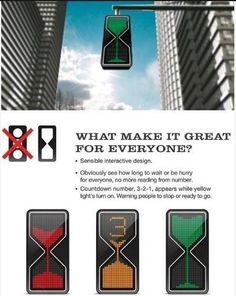 Funnel-shaped traffic light design
