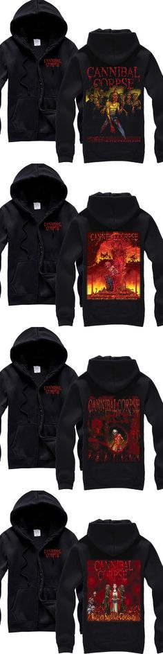 heavy metal Cannibal Corpse  Device Death Metal man's new black HOODIE