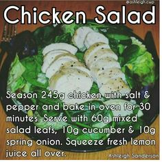 Chicken Salad #cwp #CambridgeDiet #step2 Cambridge Weight Plan, Chicken Salad, Cucumber, Diet Recipes, Meal Prep, Oven, Healthy Eating, Stuffed Peppers, Meals