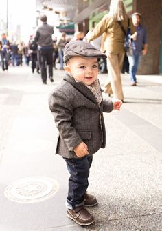 Little Boy in a Blazer - Kid's got style