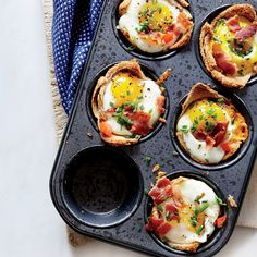 Egg and Toast Cups | These scrumptious all-in-one breakfast muffins are pure genius and require just one muffin tin to create perfect single-serving portions.