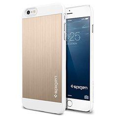 iPhone 6 Plus Case, Spigen® [Brushed Aluminum] iPhone 6 Plus (5.5) Case [Fit Series] [Aluminum Fit] [Champagne Gold] Premium Brushed Metal Anodized Aluminum Case
