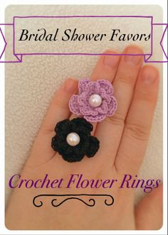 Tampa Bay Crochet: Current Crochet Projects: Bridal Shower Favors - Crochet Flower Rings