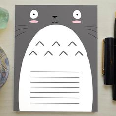 My Neighbor Totoro Notepad #totoro #studioghibli #kawaii #anime #merchandise