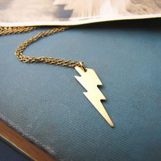Lightning Bolt Necklace now featured on Fab.