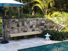 sales@aussietecture.com.au NSW: 02 8378 0730 QLD: 07 3112 7562 Natural Stone Wall, Natural Stones, Sandstone Cladding, Pool Pavers, Stone Supplier, Wall Cladding, Patio, Outdoor Decor, Nature