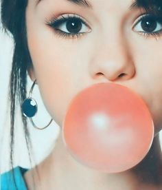 The bubble girls make with their chewing gum!