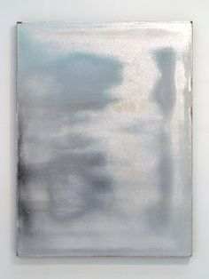 Jacob Kassay canvas & gesso & silver paint - major artist to watch (introduced by nilani trent - follow her art boards!)