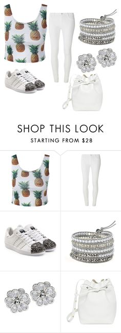 """""""pineapple"""" by imcoolyournot ❤ liked on Polyvore featuring Dorothy Perkins, adidas Originals and Mansur Gavriel"""