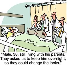 Empty Nest funny cartoons from CartoonStock directory - the world's largest on-line collection of cartoons and comics. Funny Jokes To Tell, You Funny, Funny Stuff, Funny Shit, Hilarious Jokes, Freaking Hilarious, It's Funny, Random Stuff, Medical Humor