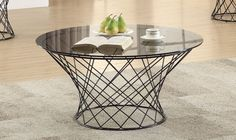 Bring a contemporary note to your living space with the Coaster Furniture Round Glass Top Coffee Table – Black that brims with attention-getting. Coaster Furniture, Home Furniture, Black Coasters, Glass Top Coffee Table, Contemporary Style, Round Glass, Living Spaces, House Inspirations, Backyard