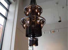 Lampen gemaakt van oude fietsen door designer Carolina Fontoura Alzaga
