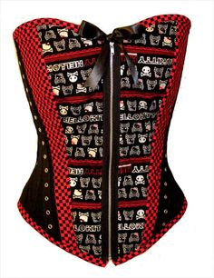 Hello Kitty Skull Corset in stock ready to ship by kawaiiparlor, $75.00