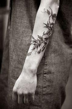 Tatuajes florales - floral tattoos