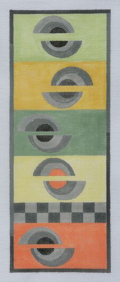 BB 121 Half circles geometric available through your needlepoint retailer, www.bbneedlepointdesigns.com