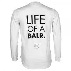 Long Sleeved Shirt 'Life of a BALR.' White - BALR.