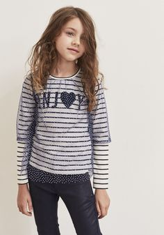 Girls' sailor T-shirt Baby Girl Shirts, Shirts For Girls, T Shirts, Ikks Junior, Kid Character, Baby Winter, Summer Trends, Girls Wear, Fashion Kids