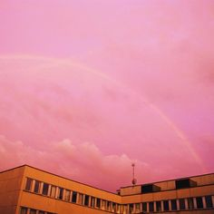 The sky was unreal 🌈💜 Instagram post by @victoriatu #pink #sky #rainbow #dreamy Pink Sky, Victoria, Rainbow, Clouds, Instagram Posts, Outdoor, Rain Bow, Outdoors, Rainbows