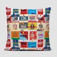 European Airports - Throw Pillow