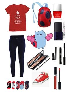 """""""Bravest warriors: catbug"""" by kat235 ❤ liked on Polyvore featuring Converse, Butter London, NARS Cosmetics, Bourjois, Lord & Berry, Christian Dior, VILA, women's clothing, women and female"""