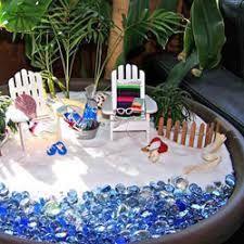 Image result for beach fairy garden