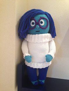 Trendy ideas crochet free pattern amigurumi disney inside out Doll Patterns Free, Crochet Amigurumi Free Patterns, Crochet Dolls, Hat Patterns, Crochet For Kids, Crochet Baby, Free Crochet, Knit Crochet, Crochet Summer