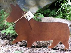 Rusty Finish Pembroke Corgi Metal Garden Art Yard by MountainIron, want this for my back yard :)