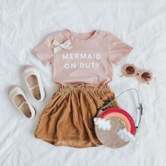 Inspired by little dreamers of the sea, our Little Girl Outfits, Cute Outfits For Kids, Little Girl Fashion, Toddler Girl Outfits, Toddler Fashion, Kids Fashion, Baby Outfits, Toddler Hair, Toddler Girls