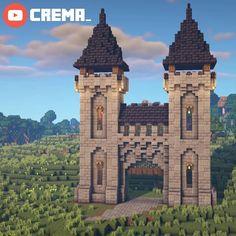 Minecraft Castle Designs, Minecraft Medieval Castle, Minecraft Kingdom, Minecraft Mansion, Minecraft Cottage, Minecraft House Tutorials, Minecraft Plans, Minecraft Survival, Minecraft Decorations