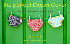 Diaper Cover:  Free pattern and tutorial