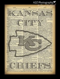 Kansas City Chiefs Dictionary page Photo Print by a2zphotography, $20.00…