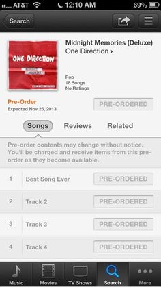 You can preorder Midnight Memories now!