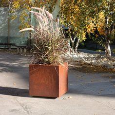 Veradek Metallic Series Corten Steel Square Planter Box