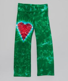 Take a look at this Holiday Heart Yoga Pants - Toddler & Girls by Groovy Blueberry on #zulily today!