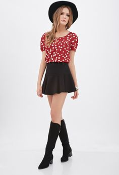 Dotted Origami-Pleated Top | FOREVER21 - 2000056944