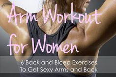 A complete arm Workout for Women with 6 exercises that target and tone the Biceps and Back. Rock this workout for Sexy arms and back. Best Bicep Workout, Biceps Workout, Gym Workouts, Workout Tips, Fitness Tips, Fitness Motivation, Health Fitness, Body Fitness, Back And Biceps