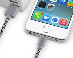 Amazon.com: [Apple MFi Certified] iCASEIT Lightning to USB Cable 1m / 3.3ft for iPhone 6, 6 Plus, 5S, 5C, 5, iPad Air, Mini, iPod Touch & iPod Nano - 1m / 3.3ft - Braided Grey & Black: Computers & Accessories