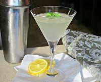Southside Martini (2 oz. Gin  1/2 oz. Lemon juice  1/2 oz. Simple syrup  Large handful of fresh mint)