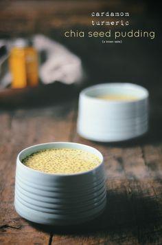 cardamom turmeric chia seed pudding