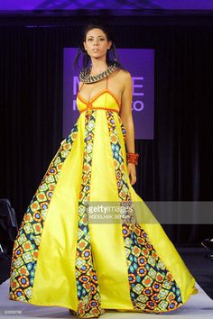 A model presents a creation by Moroccan designer Nabil Dahani during the 'Mode in Morocco' fashion show in Casablanca on November 29, 2008.