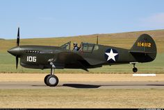 helghasttactician:  Curtiss P-40F Warhawk belonging to Judy Pay. Interesting story behind this one, this is the only Warhawk with a Rolls-Ro...