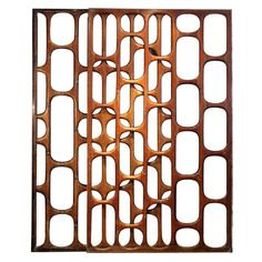 """México  1950s  """"Fantastic and unique wooden screen from the best of Mexican Modernism era. Made for a house in Pedregal, Mexico City during the 1950s, this screen consists of three separate pieces that go intertwined."""""""