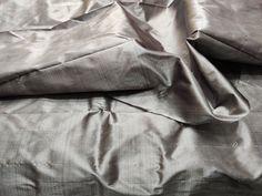 Battleship Grey Mulberry Silk Fabric/100% Pure Silk Fabric, plain silk fabric made with handloom, Fabric by the yard by TheSLVSilks on Etsy Dupioni Silk Fabric, Raw Silk Fabric, How To Dye Fabric, Cool Fabric, Natural Protein, Silk Bedding, Mulberry Silk, Battleship
