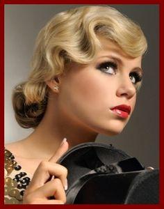 1930s hair style! @Alisha Sopota Sopota Ingersoll @Barbara Acosta Acosta Ewerth
