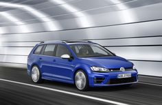 R1The new Golf R Estate on the road